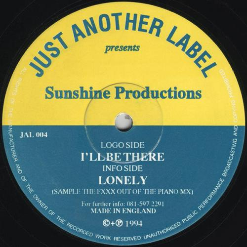 Sunshine Productions - Ill Be There  Lonely (1994) [FLAC]