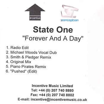 State One - Forever And A Day (UK CD Promo) (2003) [FLAC]