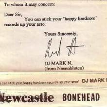 DJ Mark N - You Can Stick Your Happy Hardcore Records Up Your Arse